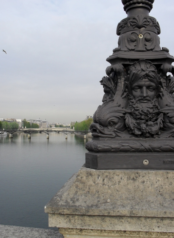 Lamp base on the Pont Neuf I took in Paris in spring.